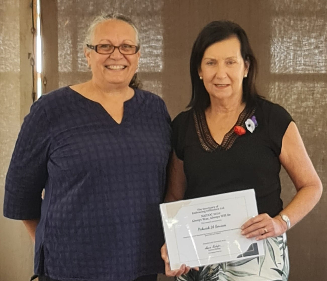 Leanne Phillips (L), P1A Chairperson and TSOED Founder with Carol Malone, Owner of P1A.